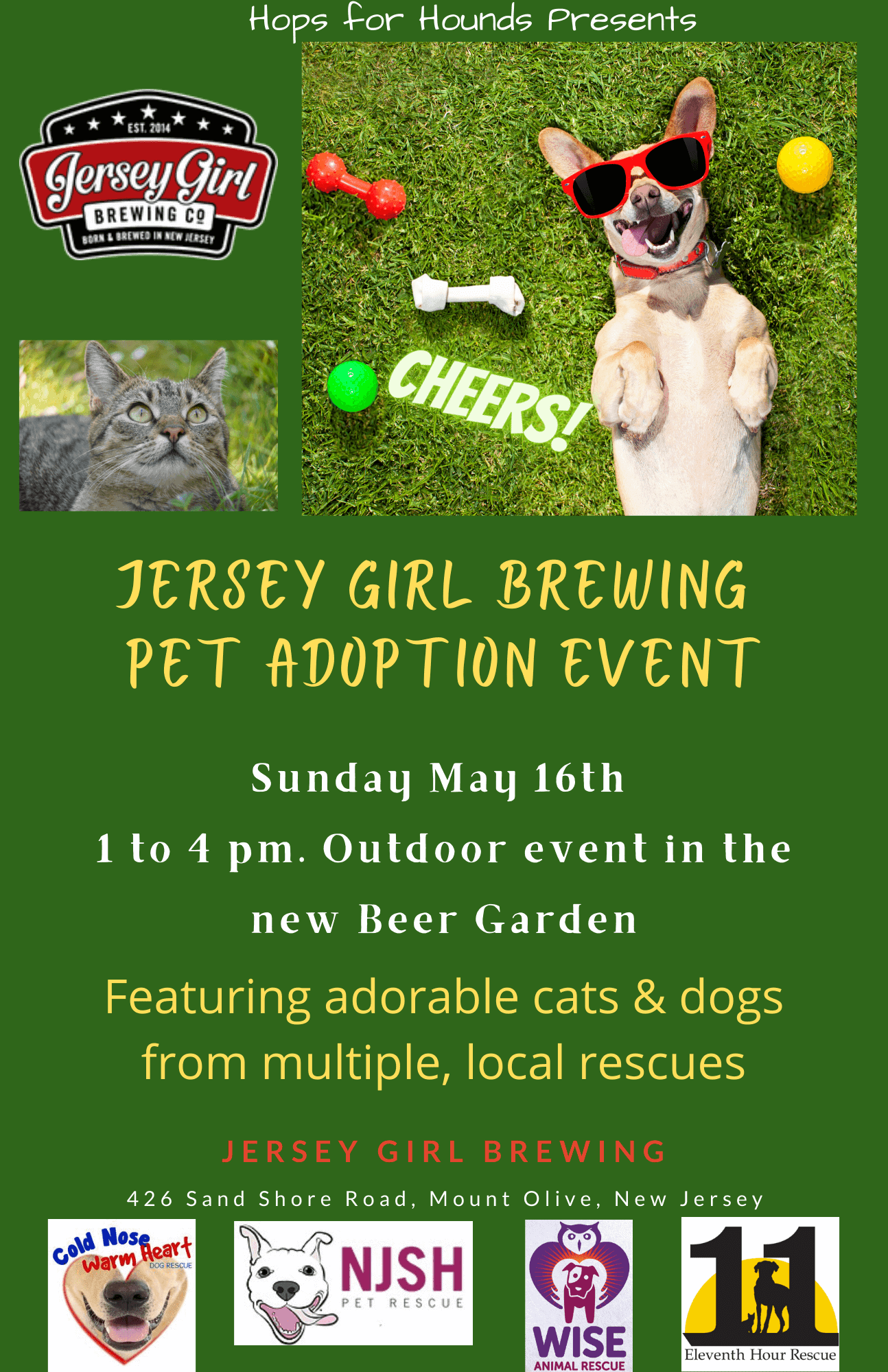 Jersey Girl Brewing Pet Adoption Wise Animal Rescue