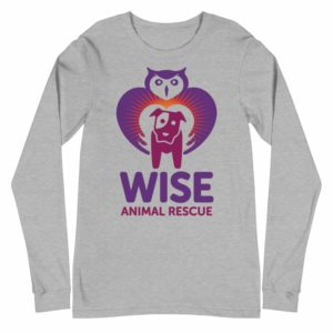 Wise Animal Rescue Long Sleeve T-Shirt Gray