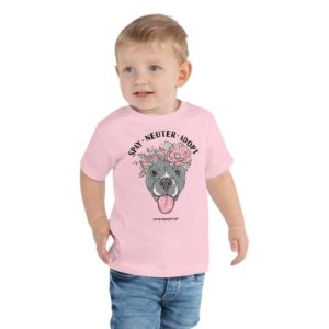 Flower Beluga Spay Neuter Adopt Toddler T-Shirt Pink