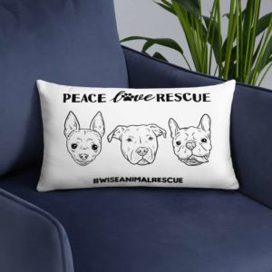 Peace Lover Rescue 3 Dog Pillow 2