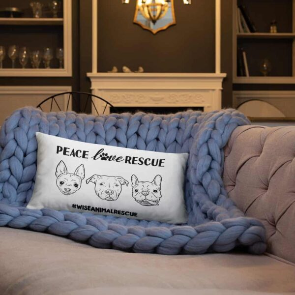 Peace Lover Rescue 3 Dog Pillow 4