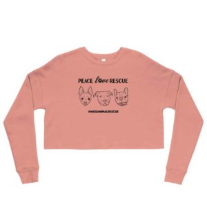 Peace Love Rescue 3 Dog Crop Sweatshirt 3