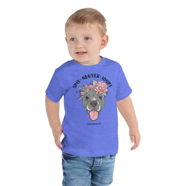 Flower Beluga Spay Neuter Adopt Toddler T-Shirt