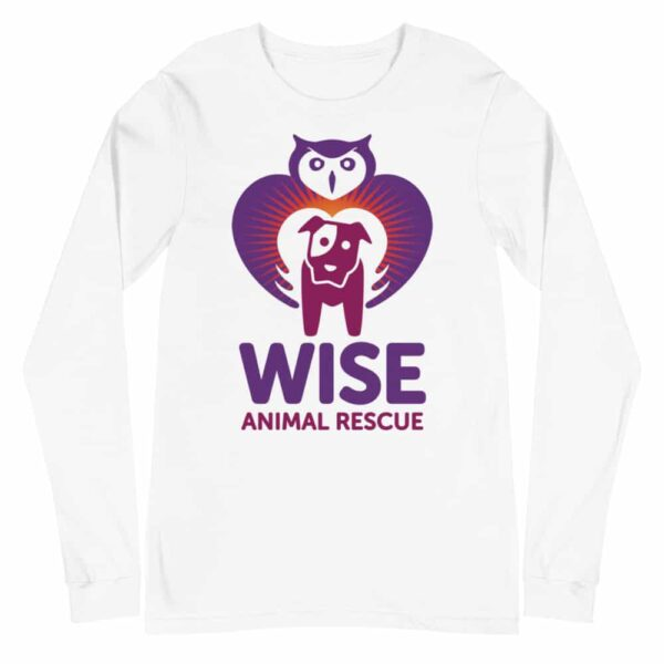 Wise Animal Rescue Long Sleeve T-Shirt White