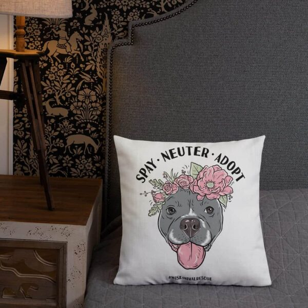 Flower Beluga Spay Neuter Adopt Pillow 4