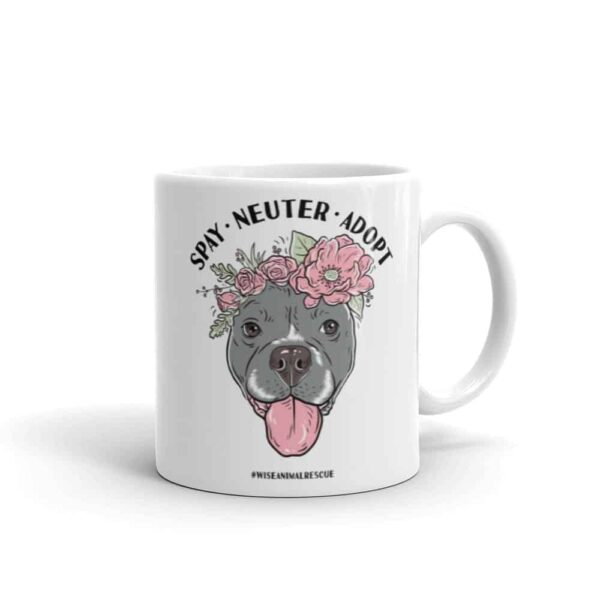 Flower Beluga Spay Neuter Adopt Small Coffee Mug 3