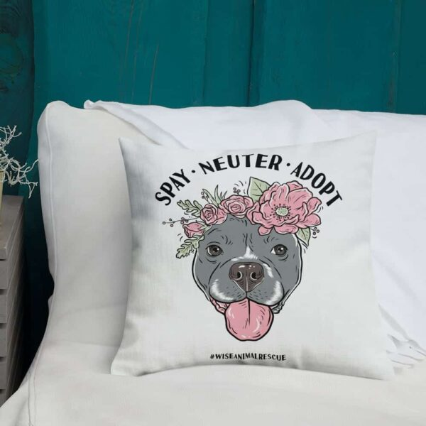 Flower Beluga Spay Neuter Adopt Pillow 2