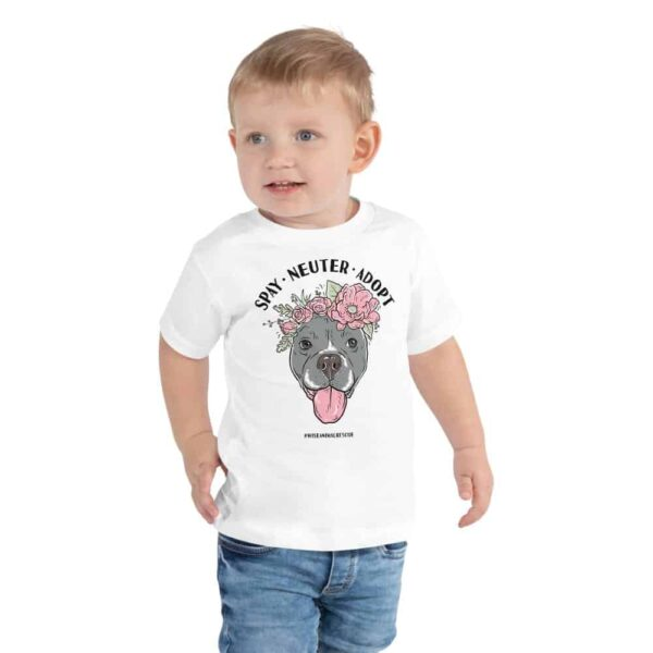 Flower Beluga Spay Neuter Adopt Toddler T-Shirt White