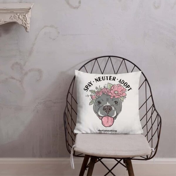 Flower Beluga Spay Neuter Adopt Pillow 5