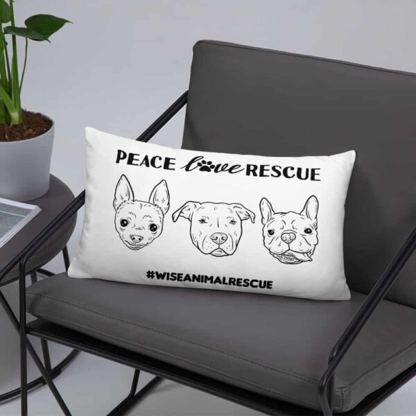 Peace Lover Rescue 3 Dog Pillow 3