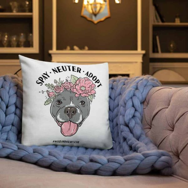 Flower Beluga Spay Neuter Adopt Pillow 3