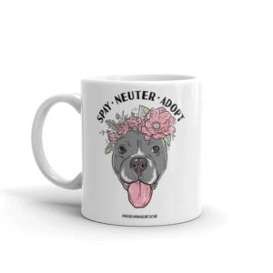Flower Beluga Spay Neuter Adopt Small Coffee Mug 2