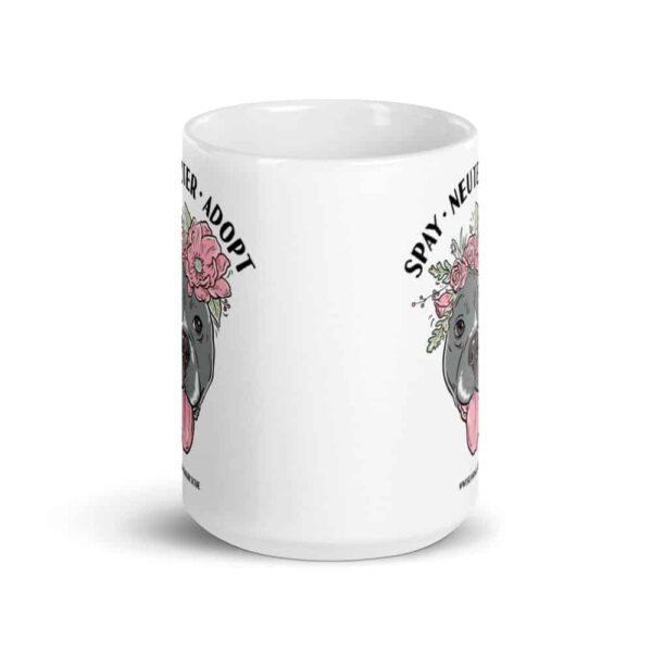 Flower Beluga Spay Neuter Adopt Large Coffee Mug 1