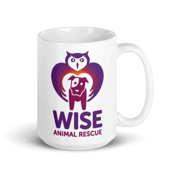 Wise Animal Rescue Large Coffee Mug 3
