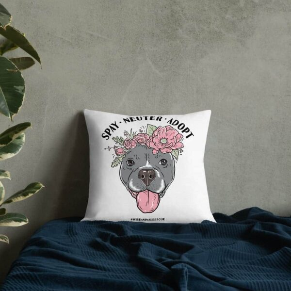 Flower Beluga Spay Neuter Adopt Pillow 1